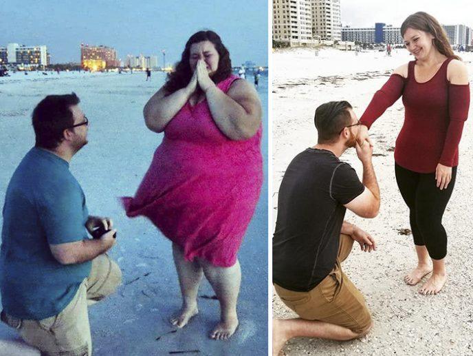 Настоящая мотивация: семья за год похудела на 175 кг и воссоздала свои старые фото, чтобы доказать, что все возможно