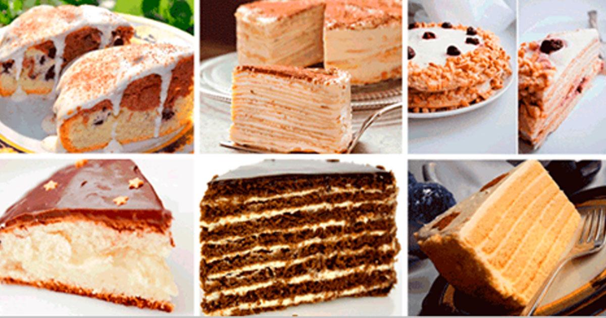 Вкусные торты — 6 рецептов