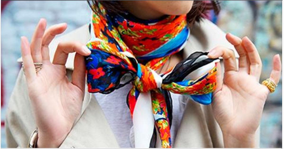 20 + абсолютно новых модных в 2018 году способов завязать шарф, платок, палантин!