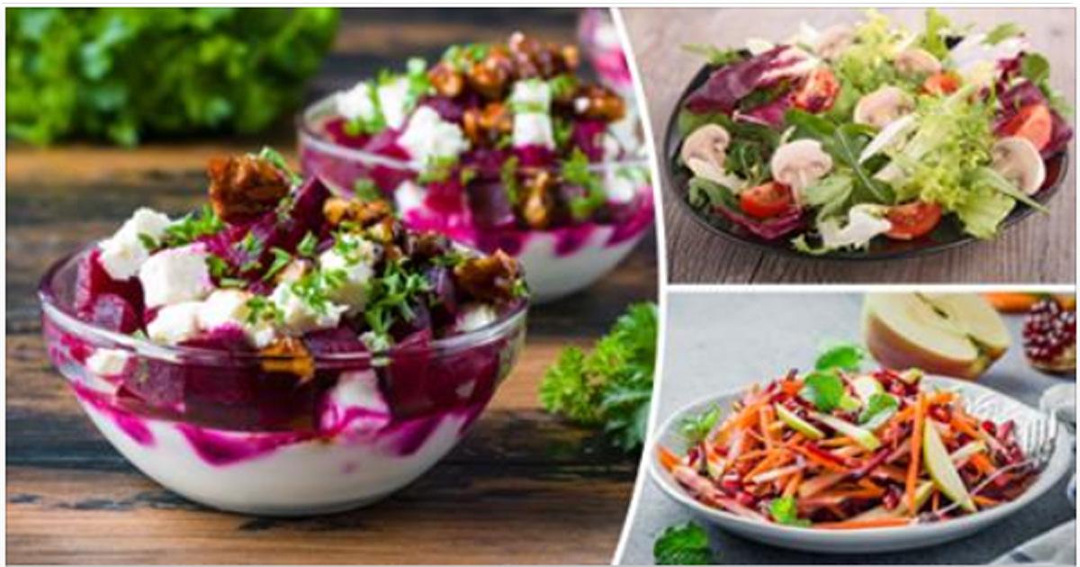 Подборка рецептов низкокалорийных салатов, которые насытят и помогут сохранить фигуру
