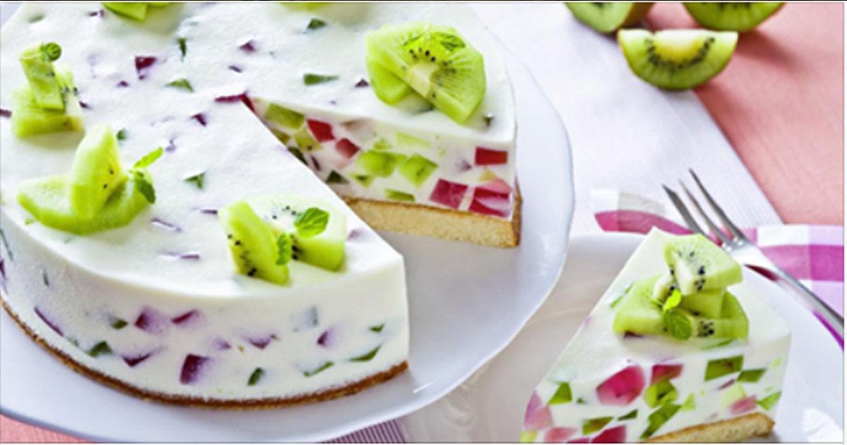 Рецепт торта с желе и фруктами. Выглядит просто замечательно, а на вкус — еще лучше!