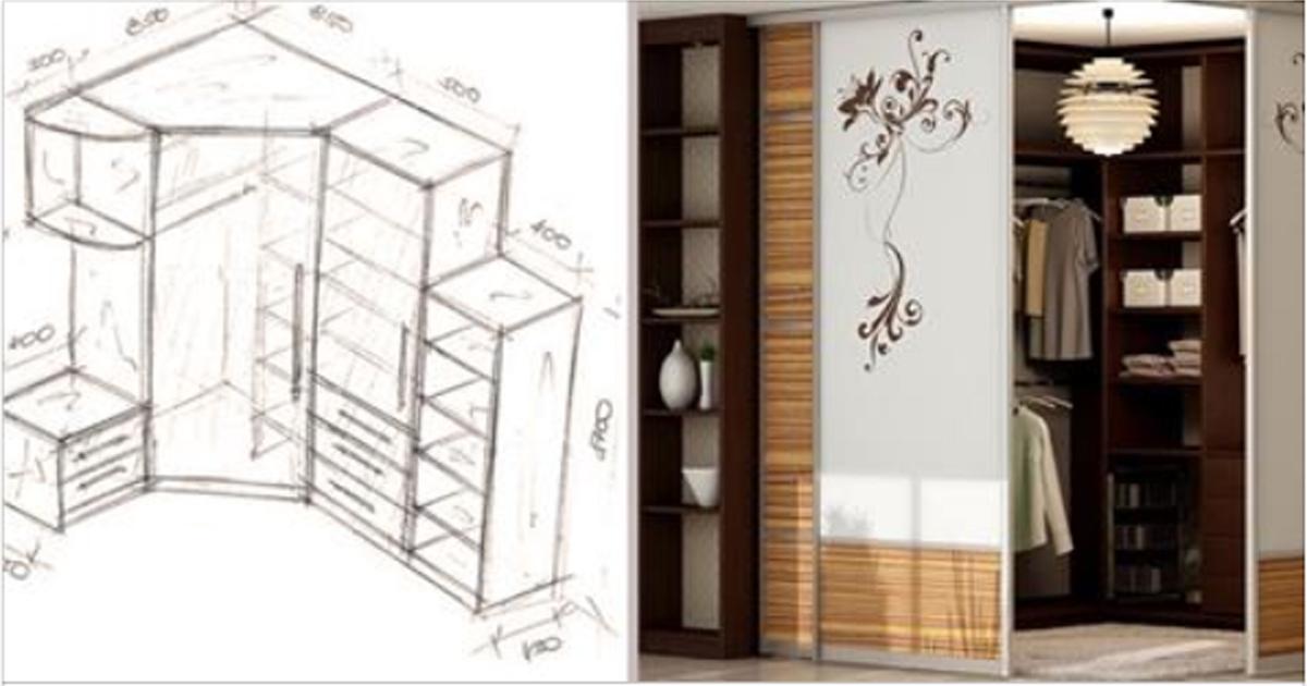 20 лучших идей с чертежами для обустройства шкафа-купе мечты – мне больше всего нравится вариант №3! А вам?