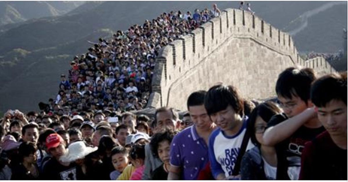 Перенаселенная жизнь в Китае: 20 поразительных фотографий