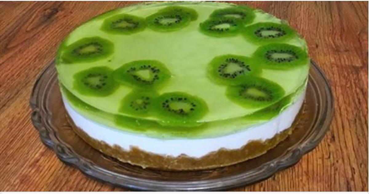 Обалденный творожный торт с фруктами без выпечки