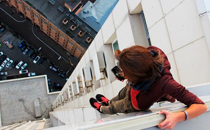 Эта девушка-руфер из Москвы с железными нервами! Вот какие сумасшедшие фотографии она делает