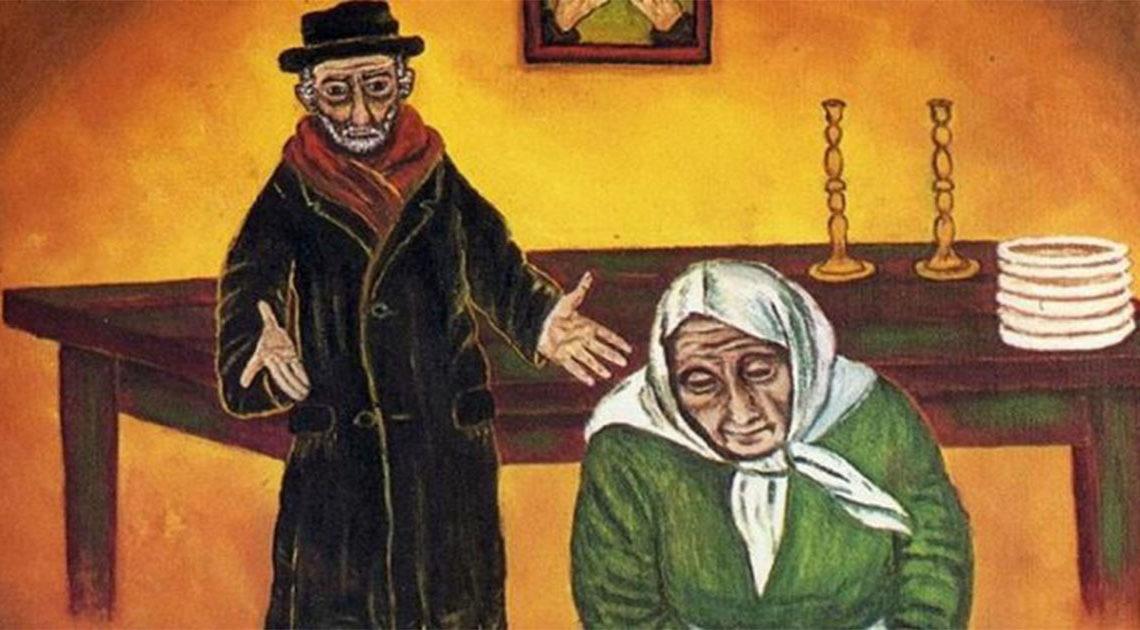 Еврейская притча. Жила-была бедная еврейская семья. Детей было много, а денег мало