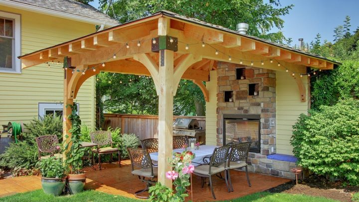 Несколько вариантов беседок для сада, которые украсят ваш участок (15 идей)