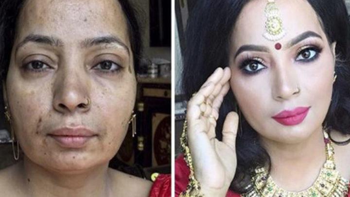 20+ Невероятных преобразований макияжа, которые доказывают, что «каждая женщина — голливудская звезда»