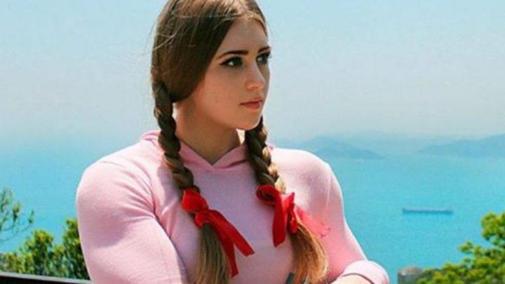 Юлия Винс известна на весь Мир, как девушка с лицом Барби и телом Халка.