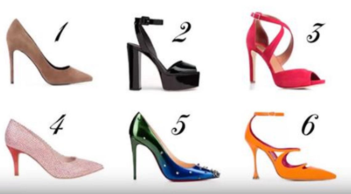 Тест: Выберите туфлю и узнайте про себя кое-что интересненькое