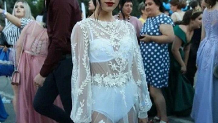 Выпускница из Липецка взволновала пользователей сети своим нарядом